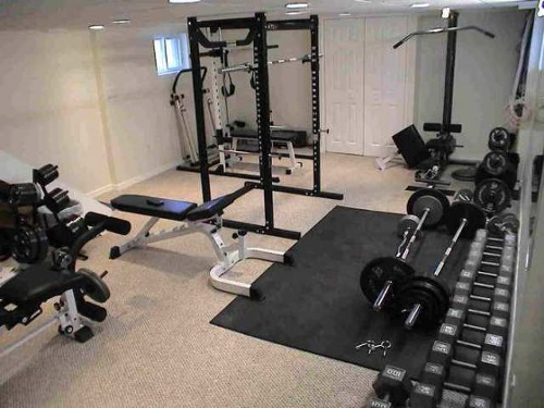 Home Gym in Basement